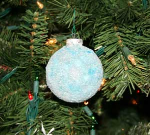 homemade tissue paper ornament