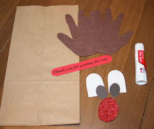 rudolph reindeer craft materials