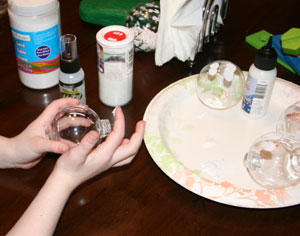 snow globe craft step 1