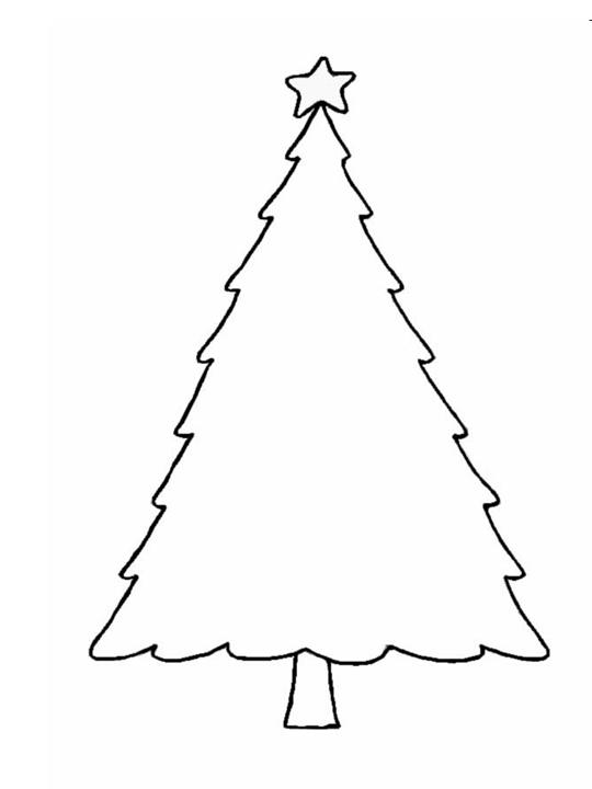 Christmas Crafts - Print your Christmas Tree Template | All Kids ...