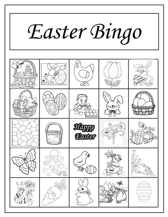 Easter bingo templates no hassle lifestyle for What is the easter bunny s phone number