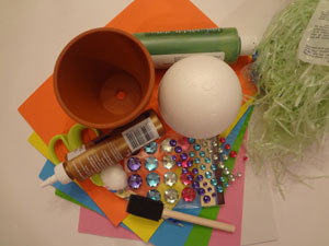 easter bunny craft materials