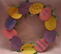 Easter Egg Wreath Craft All Kids Network