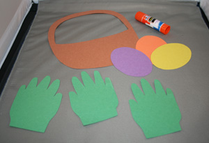 handprint easter basket supplies