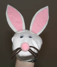 sock puppet easter rabbit