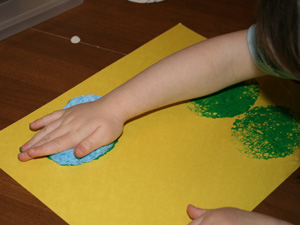 sponge paint easter craft