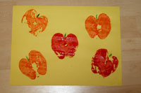 apple print fall craft