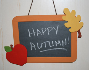autumn chalkboard craft