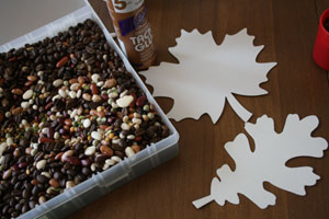 bean leaf craft supplies