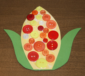 fall corn kids craft
