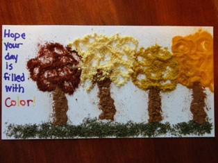 fall spice art for kids