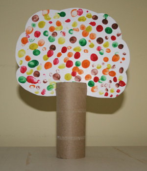 Craft Ideas Site on How To Make Your Fingerprint Fall Tree Craft