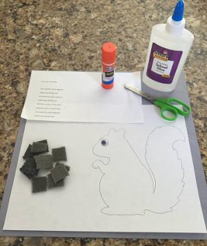Grey Squirrel Craft All Kids