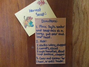 harvest soup directions
