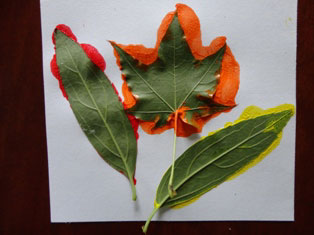 kids fall leaves craft