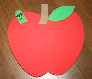 peek a boo apple craft