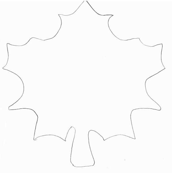 autumn leaf template free printables - leaf pattern template