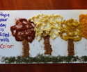 fall leaves spice art card