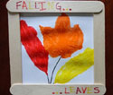 fall leaves in frame craft