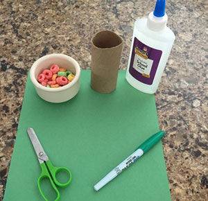paper roll fall tree craft materials