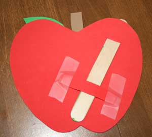 worm apple craft