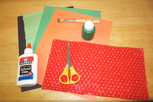 bubble wrap dragon craft materials