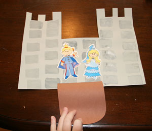 kids stamp castle craft