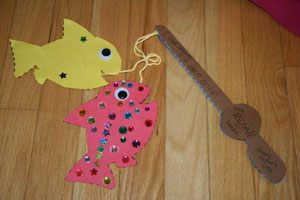 fathers day fishing rod craft
