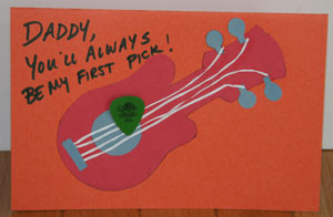 fathers day guitar card