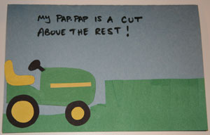fathers day lawn mower card