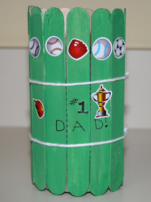 kids popsicle stick pencil holder