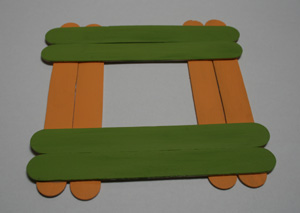 popsicle stick picture frame for dad