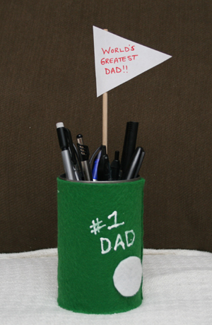 fathers day golf pencil holder