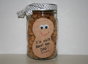 fathers day peanut jar craft