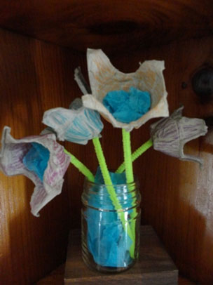egg carton flowers craft