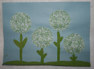 flowers spring craft for kids