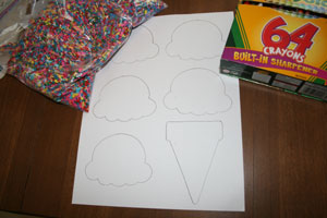 ice cream cone craft materials