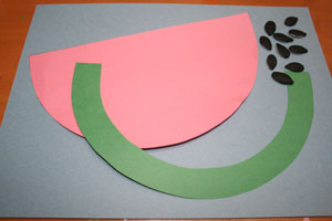 watermelon craft for kids