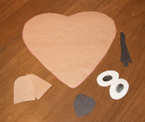 paper groundhog day craft supplies