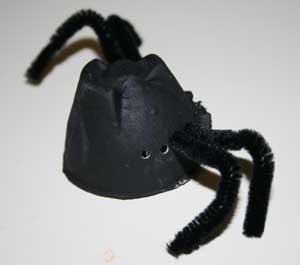 egg carton spider craft
