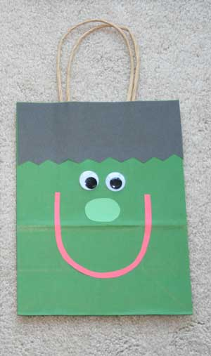 frankenstein treat bag craft