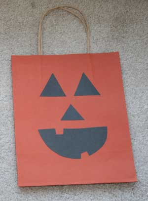 jack-o-lantern treat bag craft