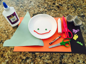 paper plate witch craft materials