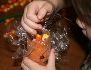 candy jack o lantern craft
