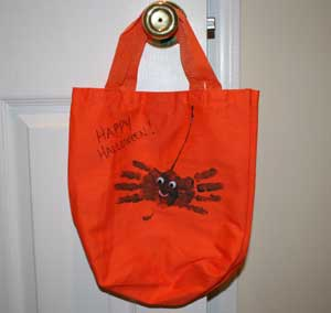 halloween spider treat bag