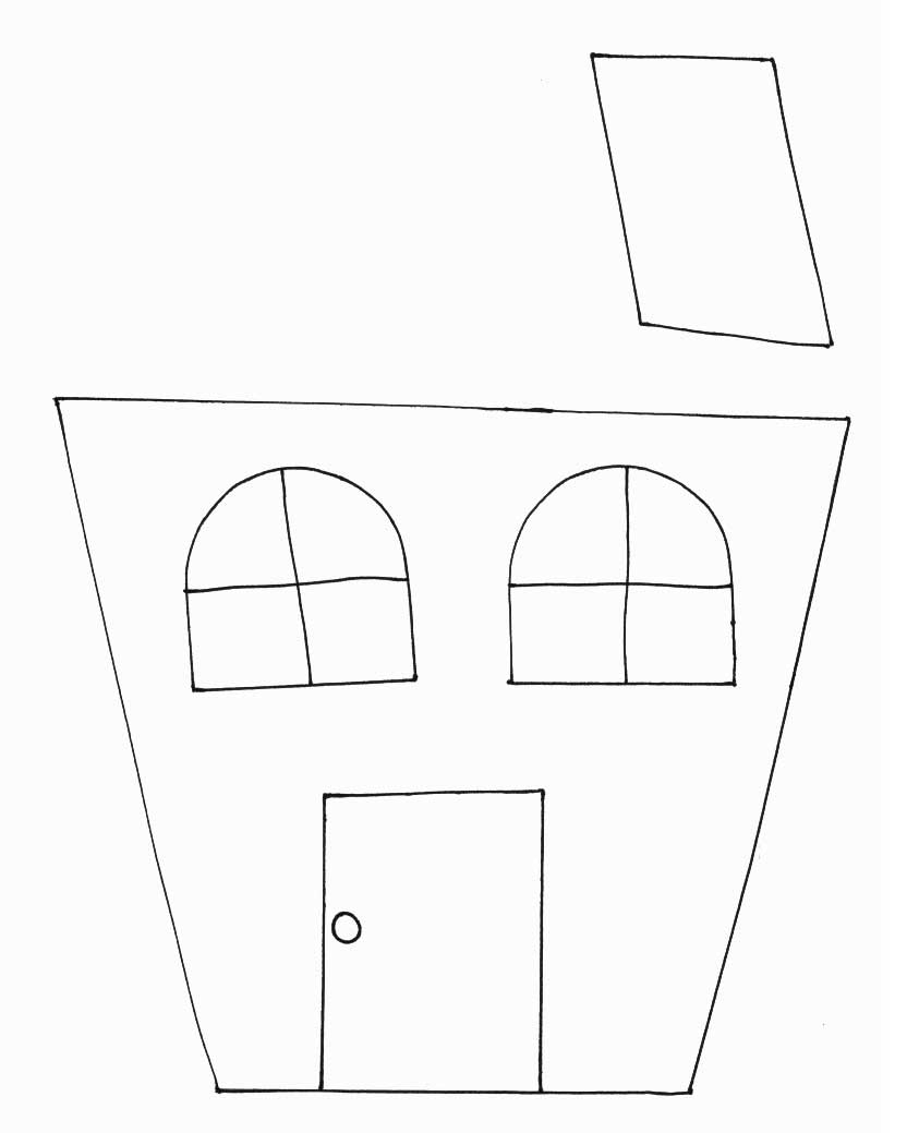 halloween crafts print your haunted house template all