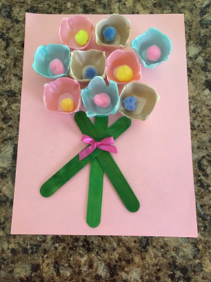 egg carton flower bouquet craft