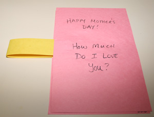 kids mothers day card