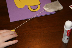 attach tea bag to craft