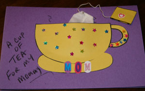 mothers day tea card